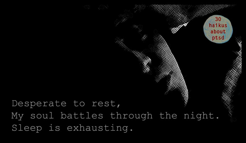 Desperate to rest, My soul battles through the night Sleep is exhausting