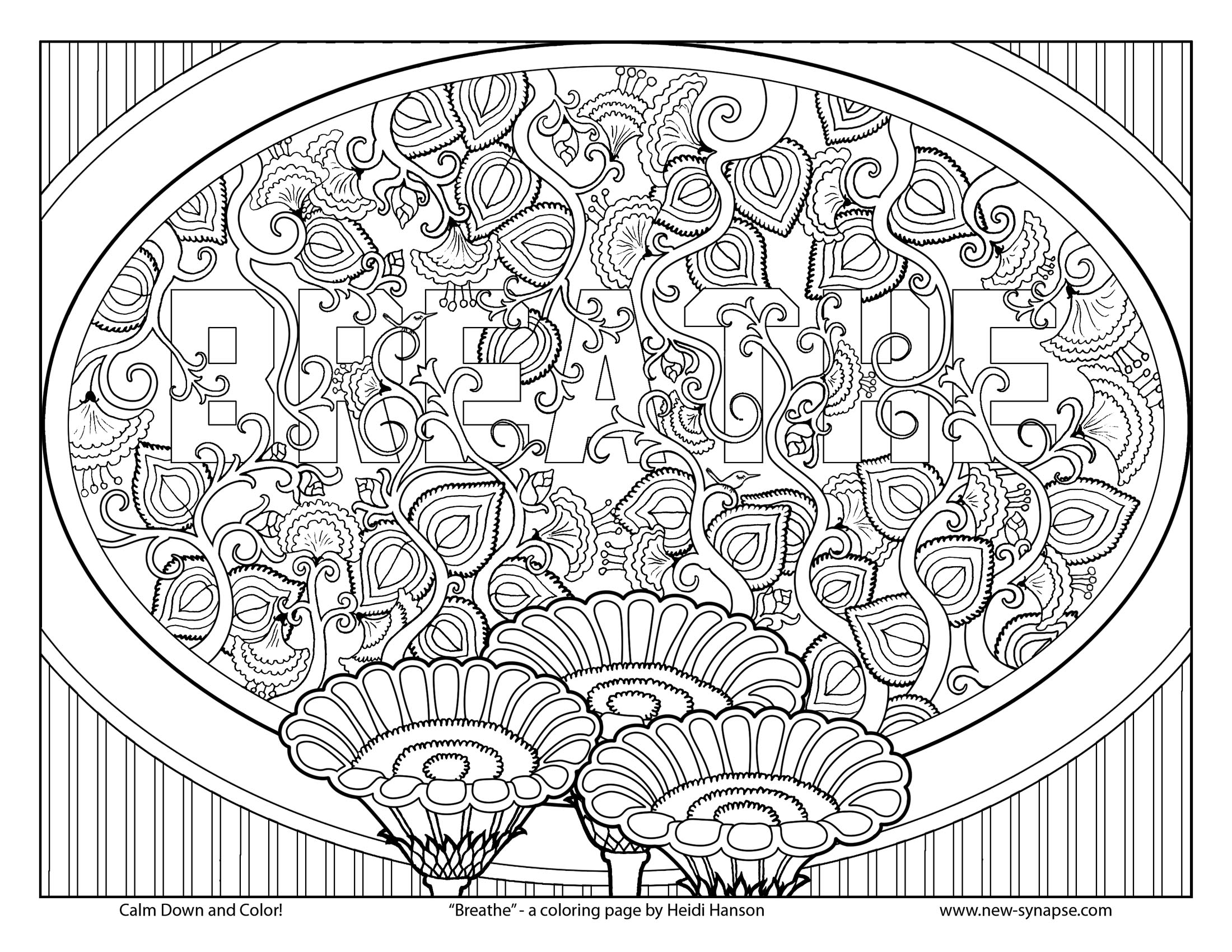 "Free Coloring Page ""Breathe"""