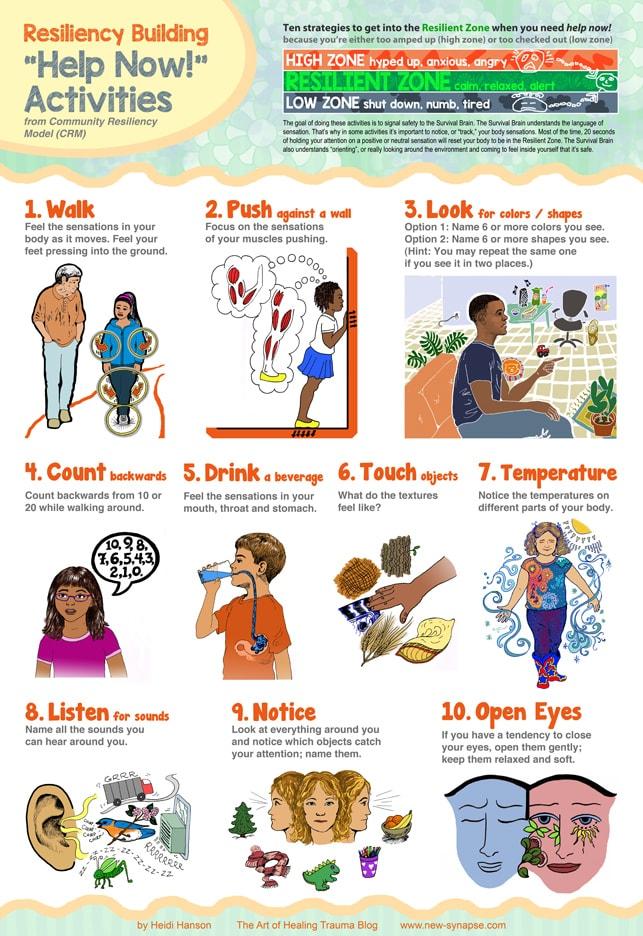 Help Now! Activities Poster