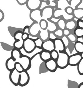 Butterfly Princess Coloring Page detail of flowers
