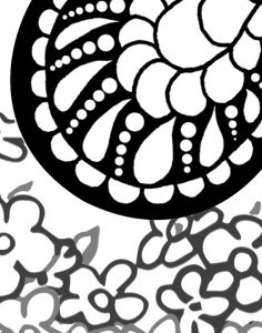 Butterfly Princess Coloring Page detail of wing