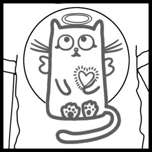 Count Backwards while Walking Grounding Activity Coloring Page detail of cute cat on T-shirt