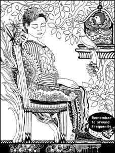 Grounding Exercise Feet, Seat, and Back Coloring Page