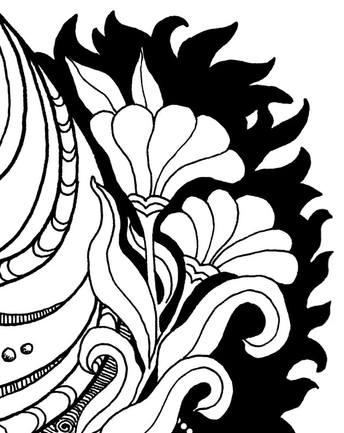 Inner Child Healing Coloring Page detail