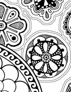 Self-Holding Step 3 Coloring Page Mandalas Detail