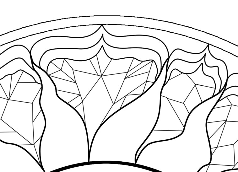 Self Holding Step 4 Coloring Page Geometric Patterns Around A Sun