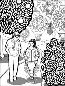 Walk Mindfully Coloring Page
