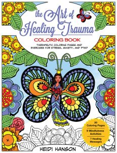 The Art of Healing Trauma Coloring Book Front Cover