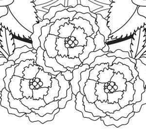 Self-Holding Step 2 Coloring Page Detail of Flowers